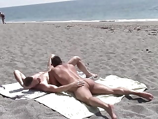 Hot sex in the hot sun beach (gay) blowjob (gay) outdoor (gay)