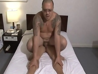 Japanese Suit Boss Dad Fucking Tatoo Bear In Office gay asian gay bear gay daddy