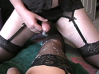 Fucked and cummed on my another crossdresser gay amateur gay crossdressing gay handjob