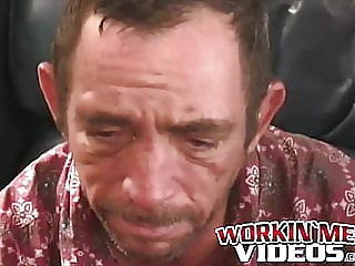 Raw dick sucking with an old mature blue collar working man amateur (gay) blowjob (gay) handjob (gay)